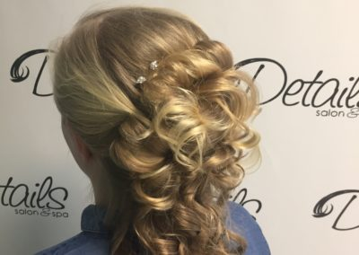formal long bridal hairstyle created by Details Salon & Spa in Mount Joy, PA
