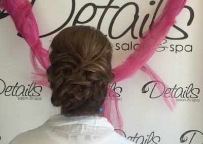 updo and wedding hairstyle created at Details Salon & Spa in Mount Joy, PA
