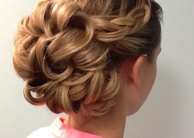 bridal hair and updo created at Details Salon & Spa in Mount Joy, PA