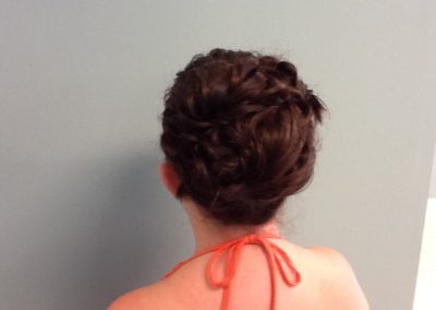 wedding updo created for a flower girl at Details Salon in Mount Joy, PA