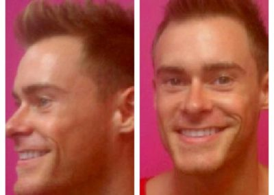 profile and front view of a men's haircut and styling at Details Salon & Spa
