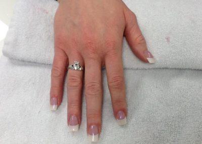 A bridal manicure for a client at Mount Joy, PA's nail salon and Details Salon & Spa