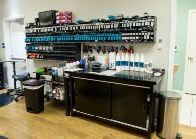hair colorist station at Details Salon & Spa in Mount Joy, PA